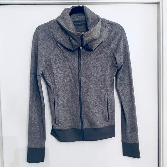 116bf8707f5 lululemon athletica Tops | Grey Lululemon Cowl Neck Comfy Sweatshirt ...